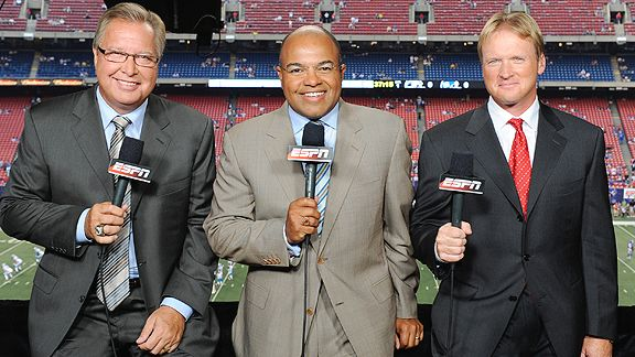 The Monday Night Football booth team